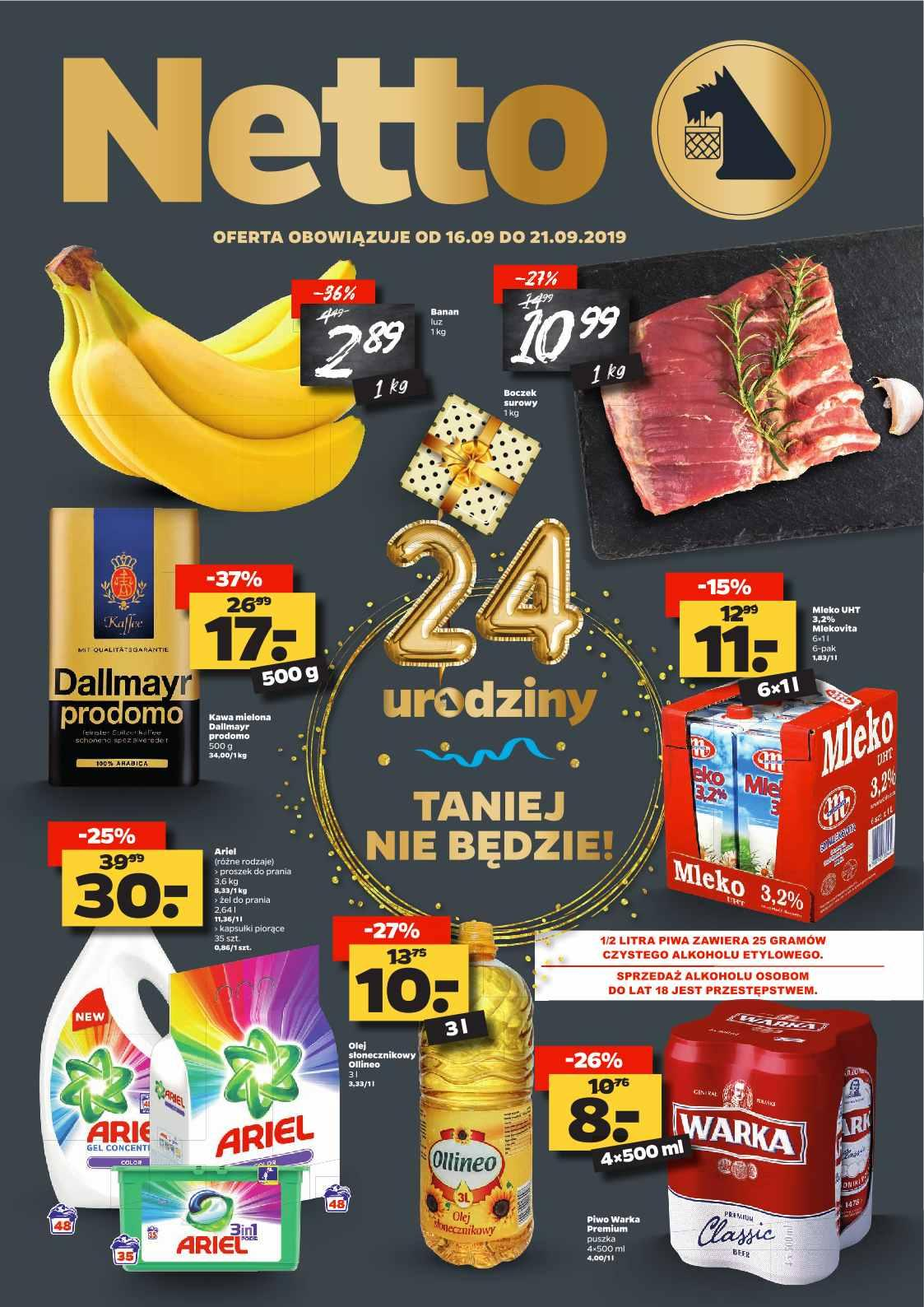 Gazetka promocyjna Netto do 21/09/2019 str.1