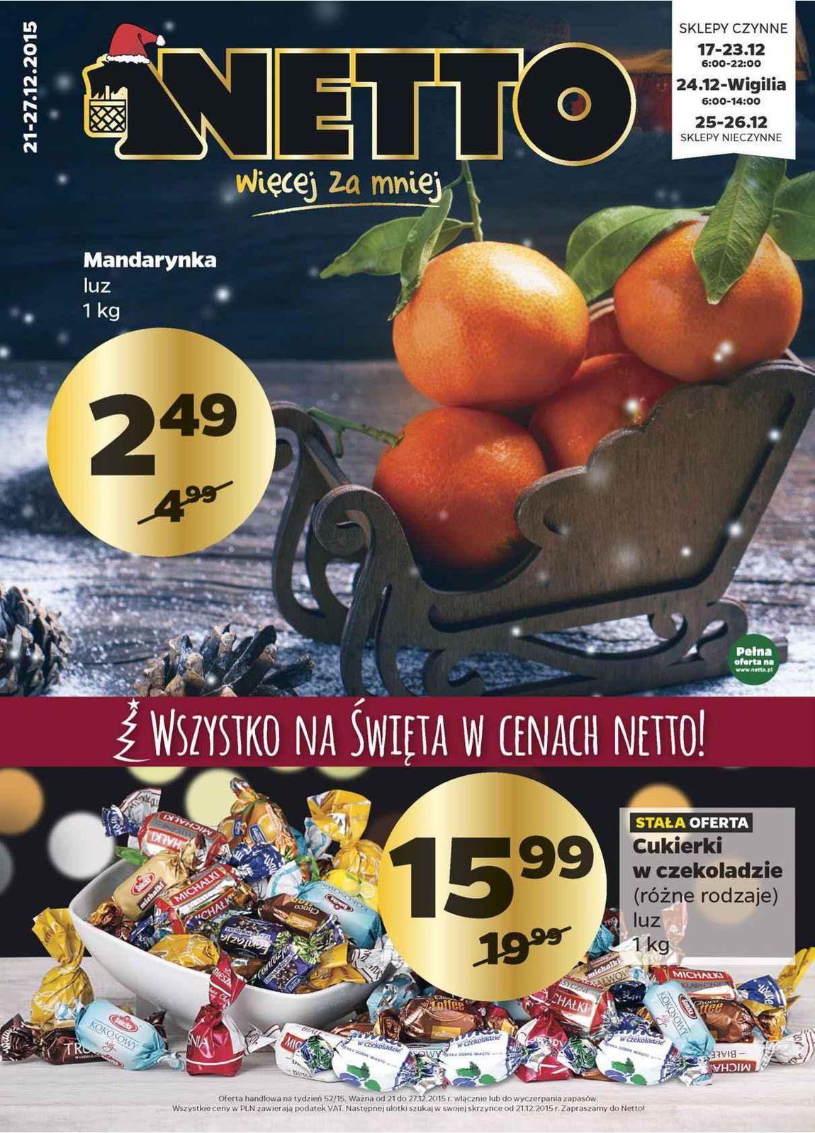 Gazetka promocyjna Netto do 27/12/2015 str.0