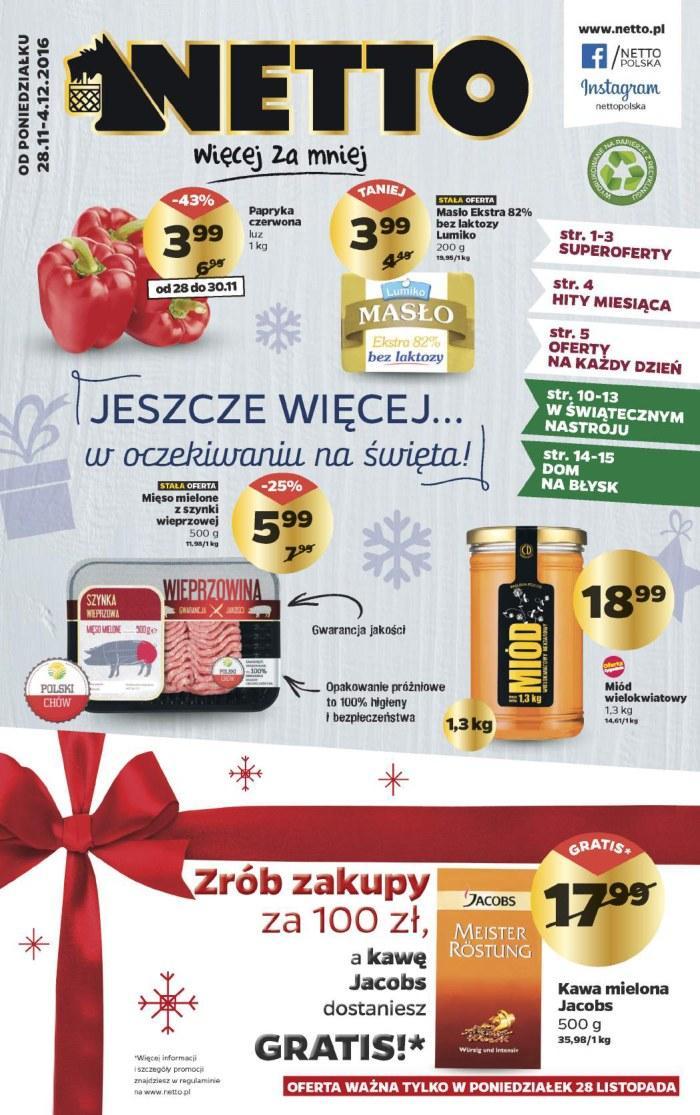 Gazetka promocyjna Netto do 04/12/2016 str.0
