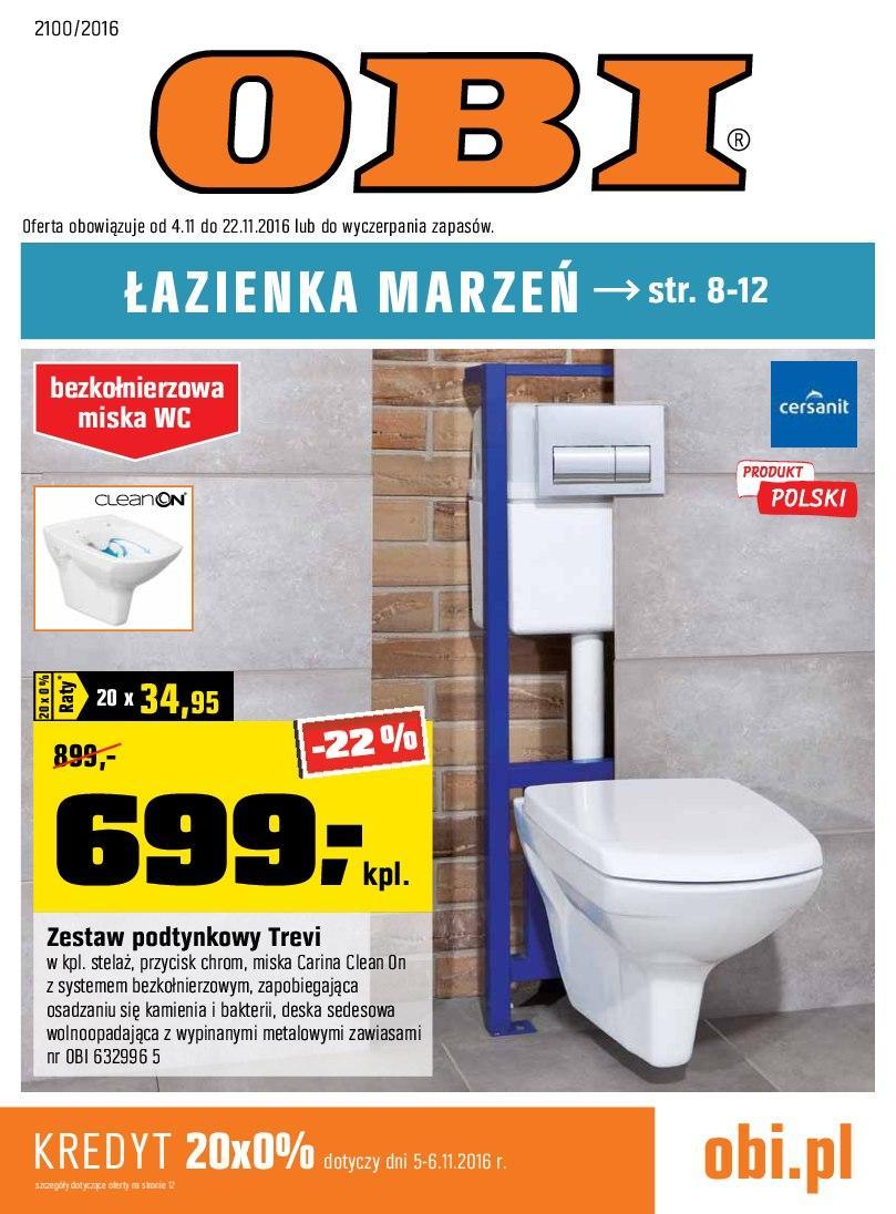 Gazetka promocyjna OBI do 22/11/2016 str.0