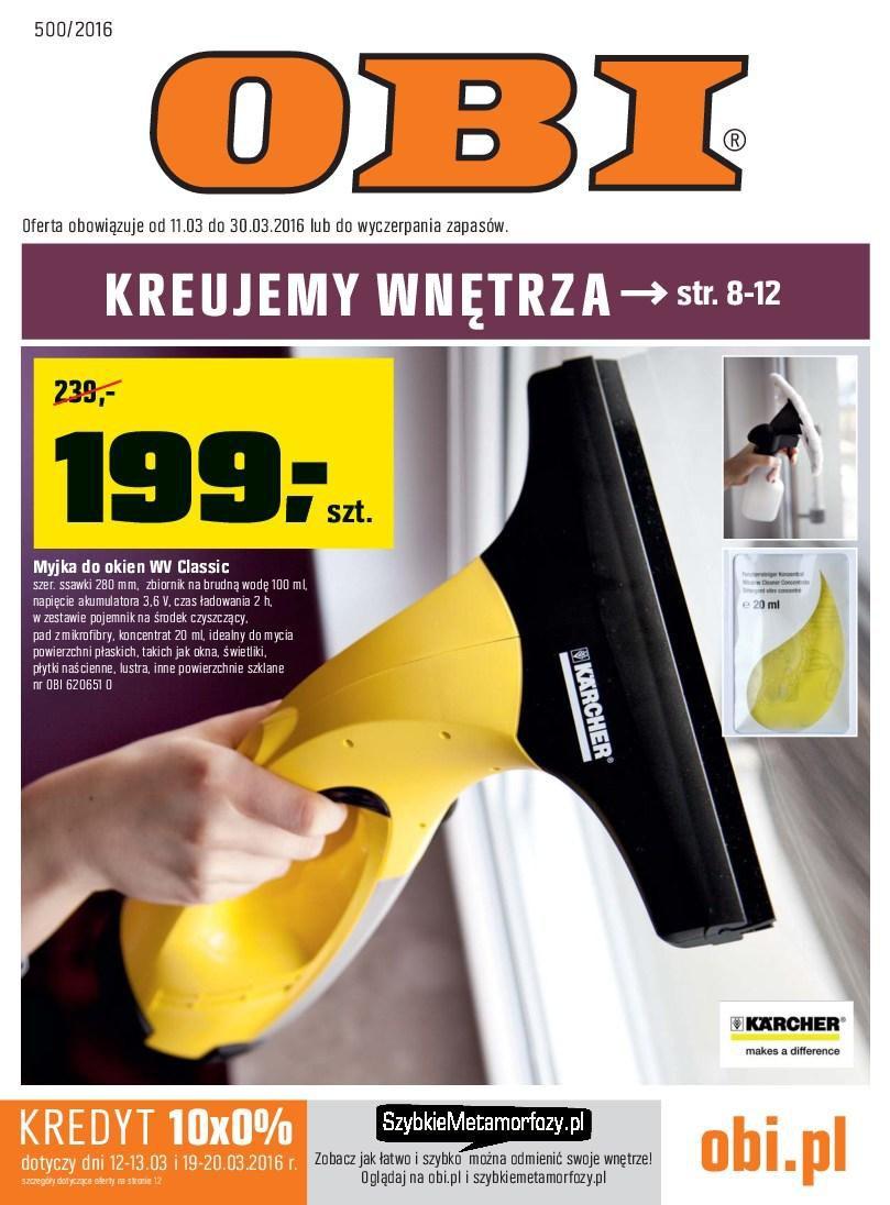 Gazetka promocyjna OBI do 30/03/2016 str.0