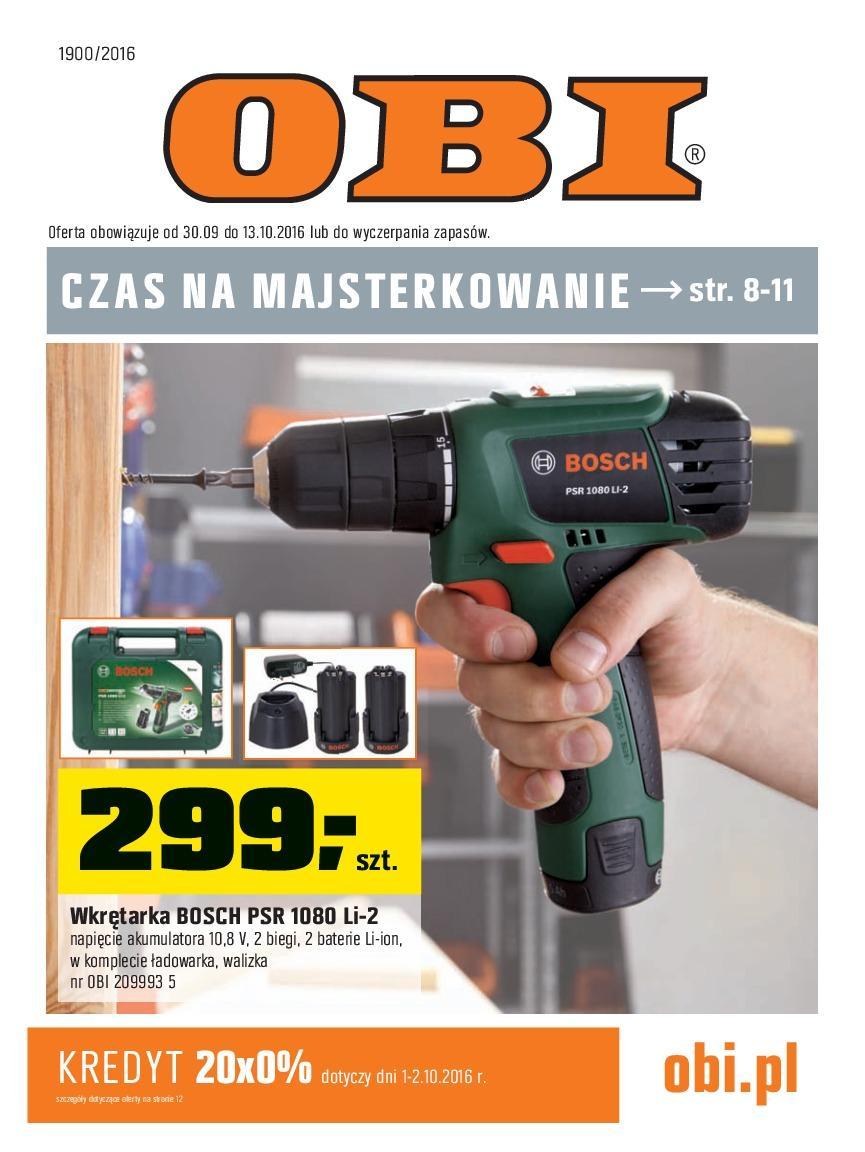 Gazetka promocyjna OBI do 13/10/2016 str.0