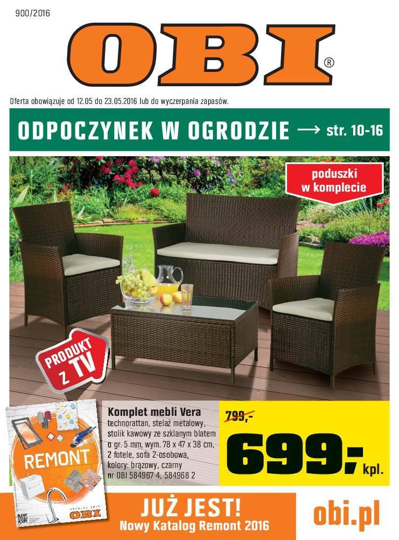 Gazetka promocyjna OBI do 23/05/2016 str.0