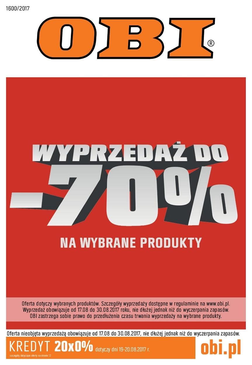 Gazetka promocyjna OBI do 30/08/2017 str.0