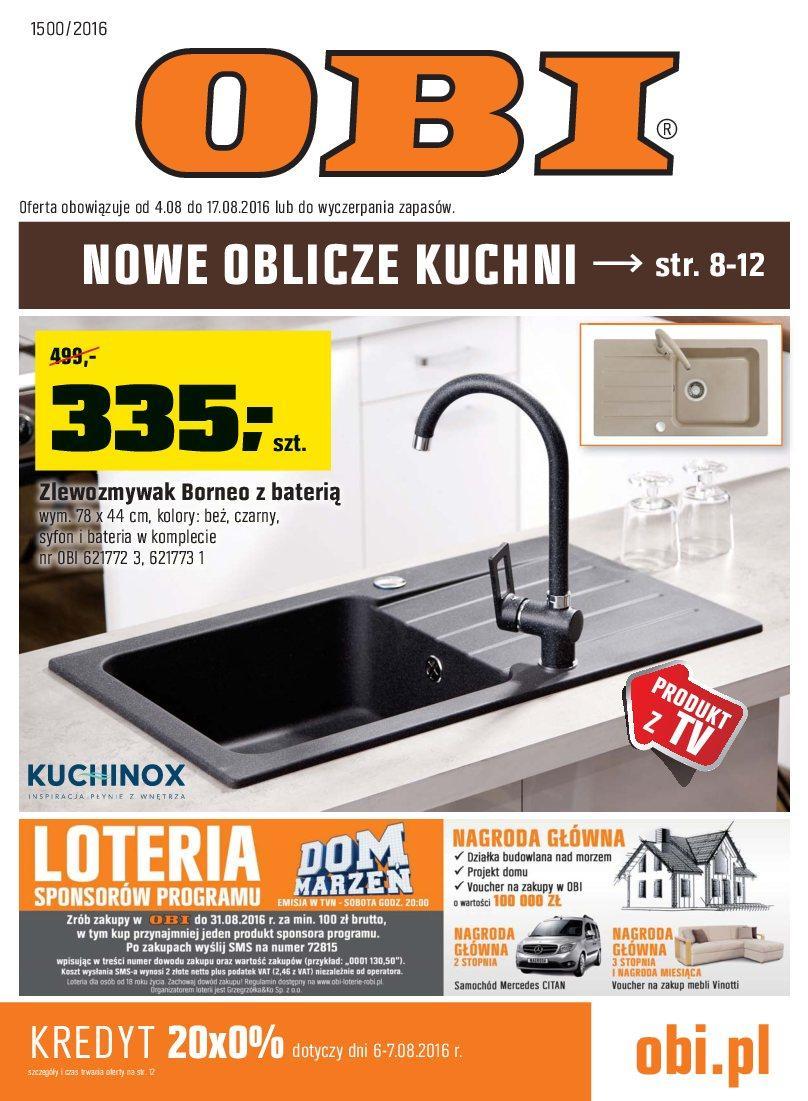 Gazetka promocyjna OBI do 17/08/2016 str.0