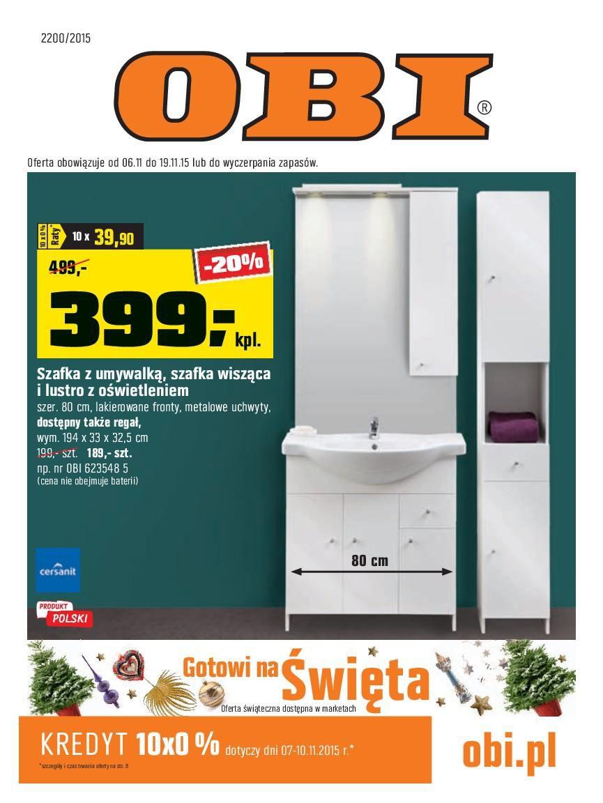 Gazetka promocyjna OBI do 19/11/2015 str.0