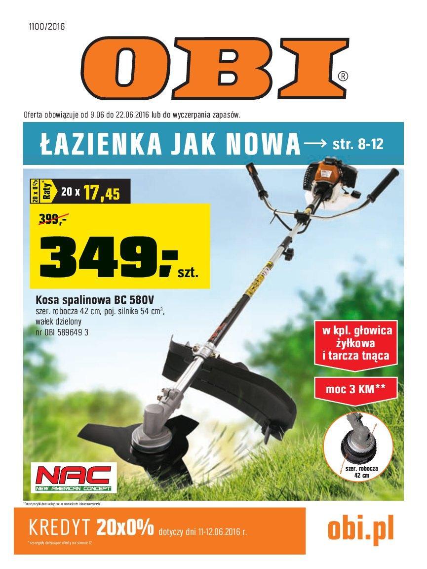 Gazetka promocyjna OBI do 22/06/2016 str.0