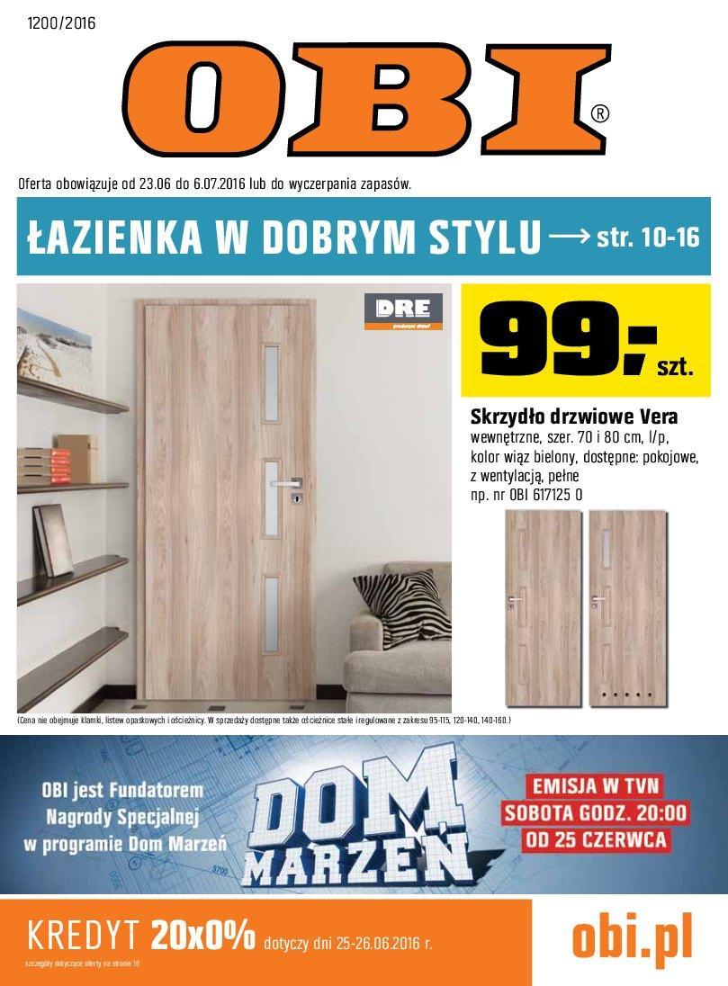 Gazetka promocyjna OBI do 06/07/2016 str.0