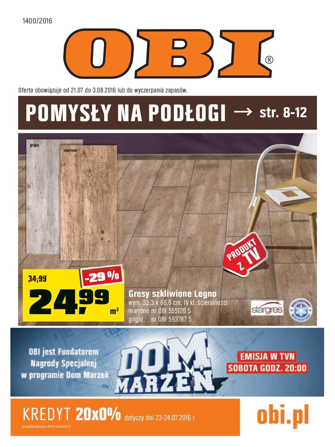 Gazetka promocyjna OBI do 03/08/2016 str.0
