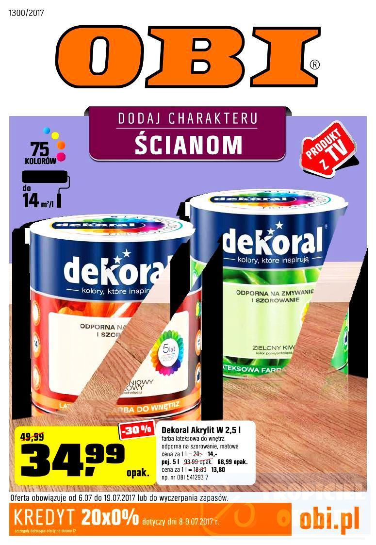 Gazetka promocyjna OBI do 19/07/2017 str.0