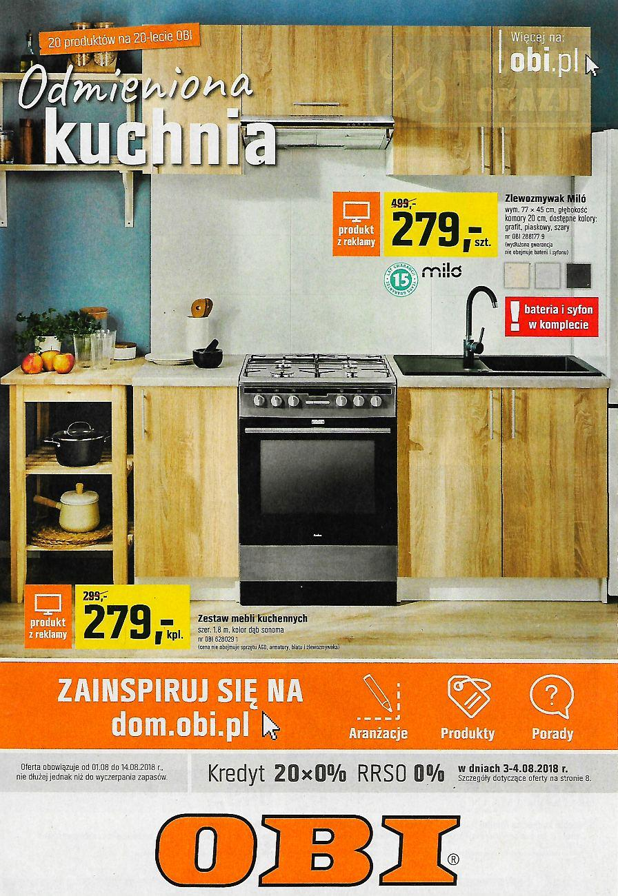 Gazetka promocyjna OBI do 14/08/2018 str.1