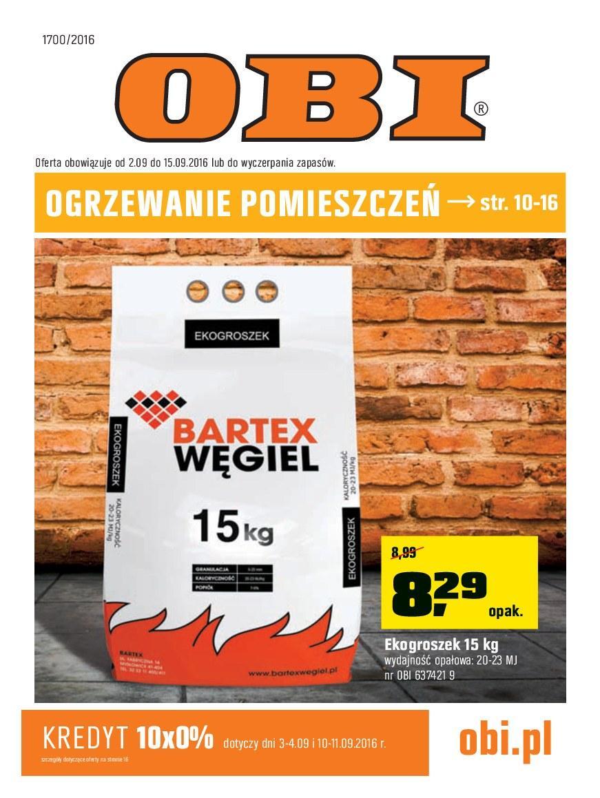 Gazetka promocyjna OBI do 15/09/2016 str.0
