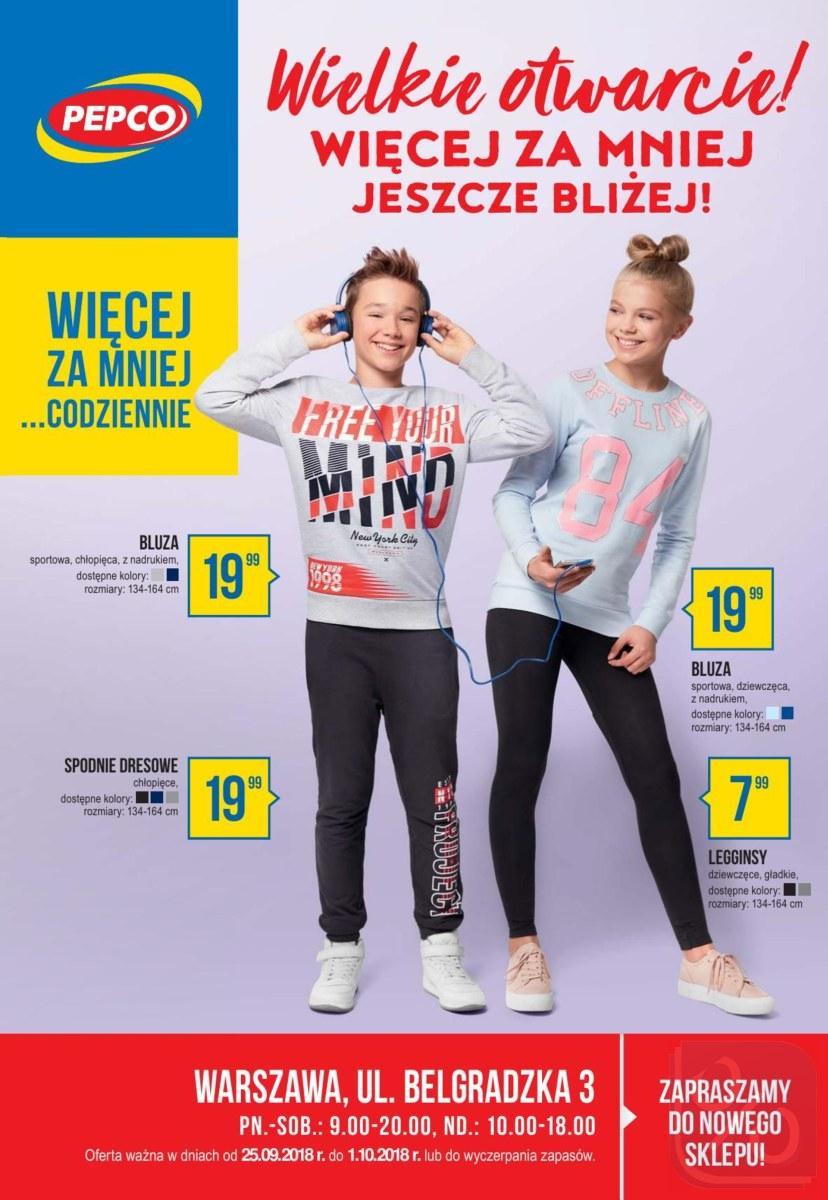 Gazetka promocyjna Pepco do 01/10/2018 str.0