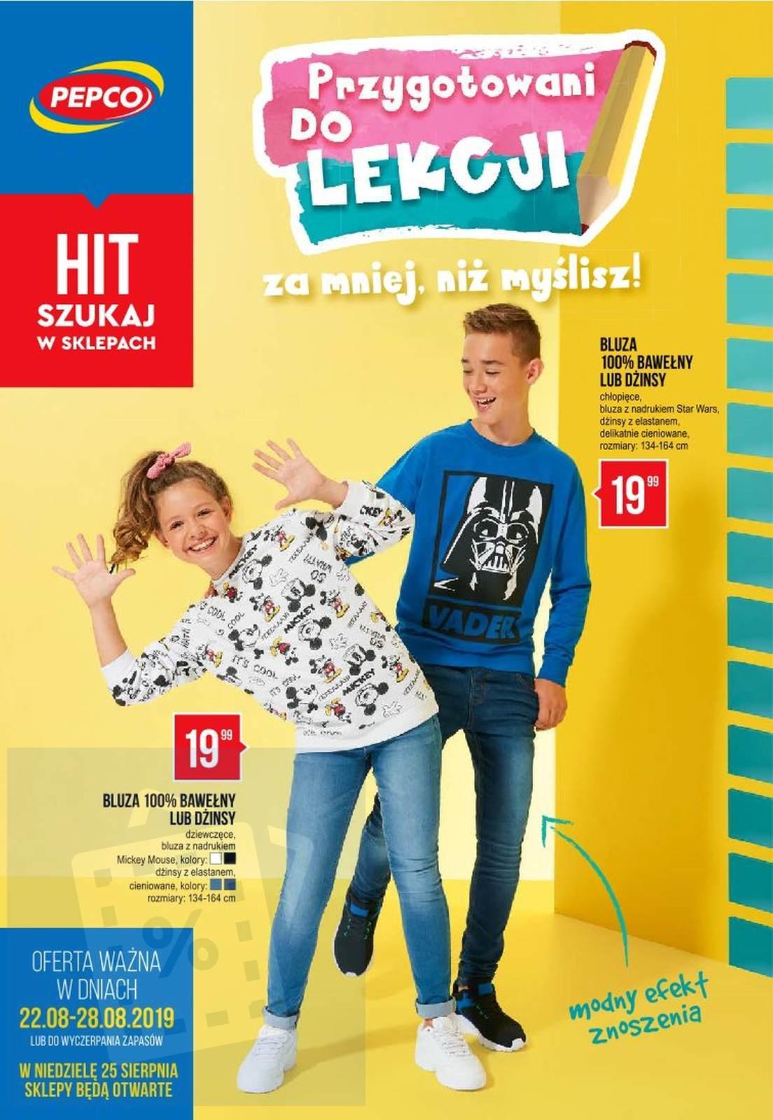 Gazetka promocyjna Pepco do 28/08/2019 str.1