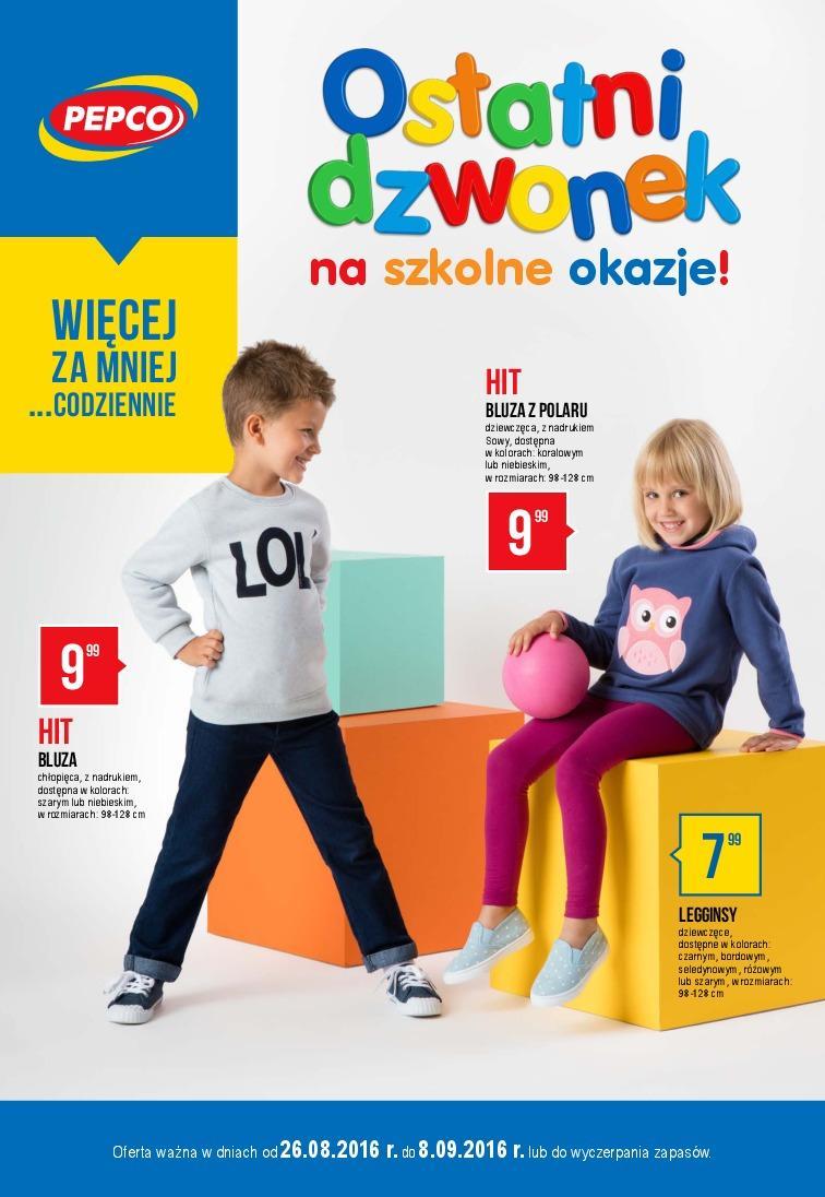 Gazetka promocyjna Pepco do 08/09/2016 str.0