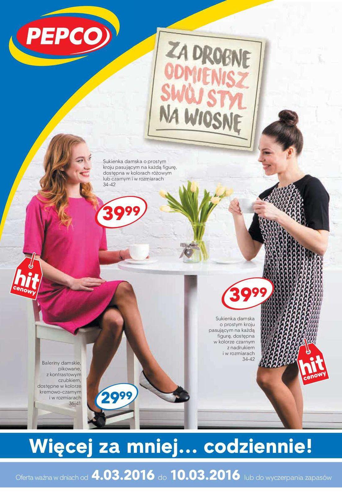 Gazetka promocyjna Pepco do 10/03/2016 str.0