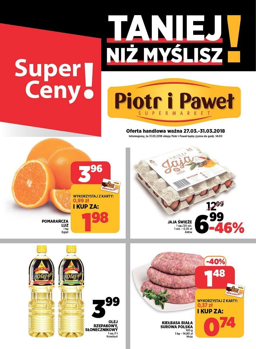 Gazetka promocyjna Piotr i Paweł do 31/03/2018 str.0