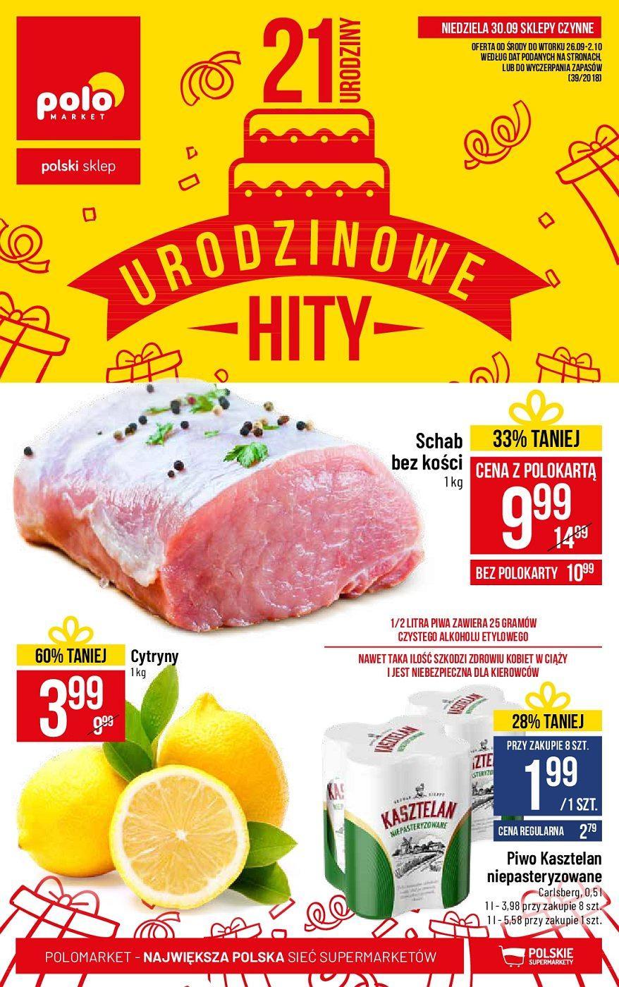 Gazetka promocyjna POLOmarket do 02/10/2018 str.1