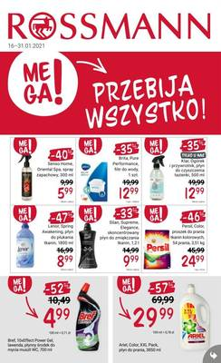 Rossmann gazetka  - od 16/01/2021 do 31/01/2021