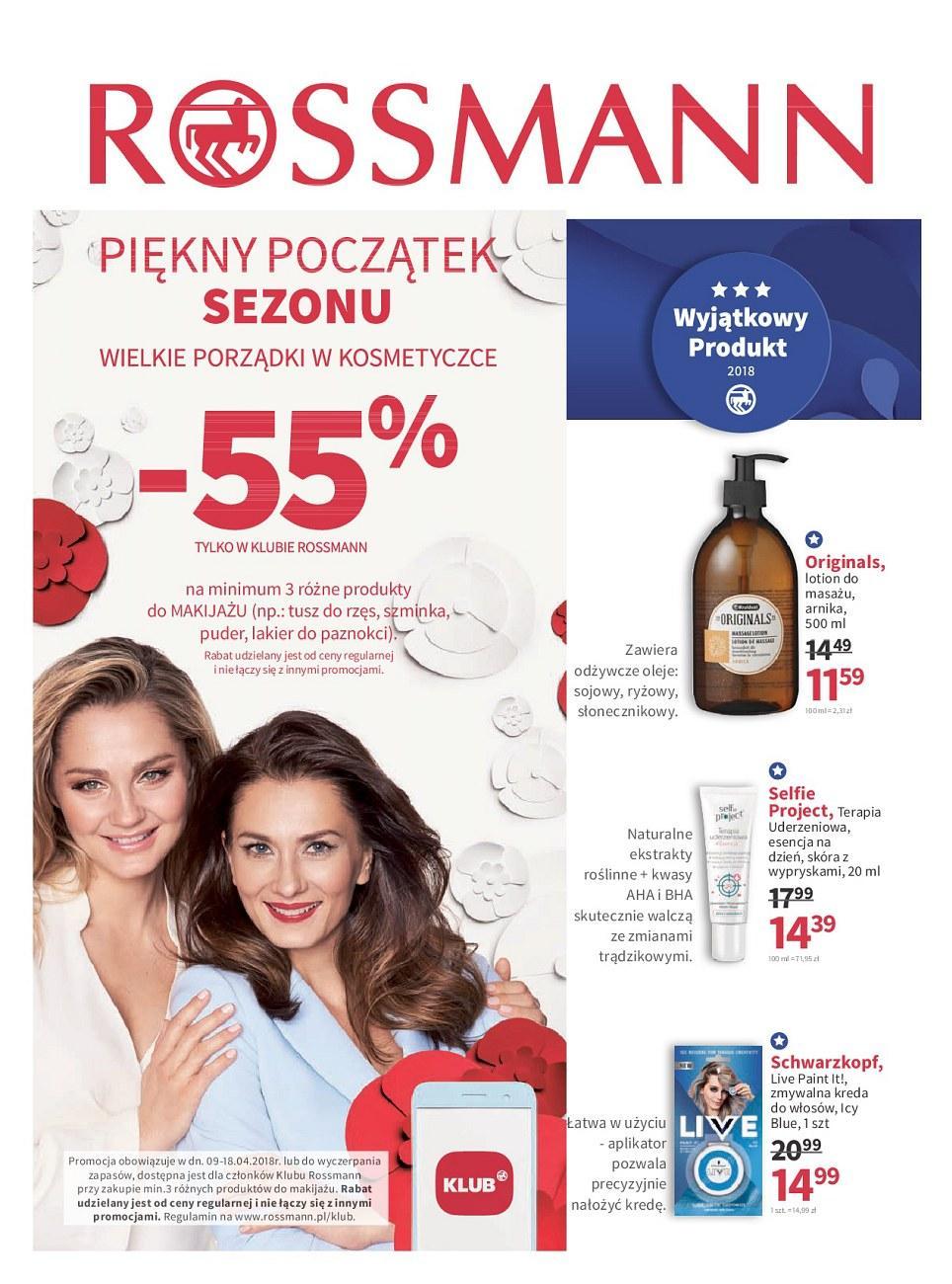 Gazetka promocyjna Rossmann do 18/04/2018 str.0