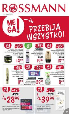 Rossmann gazetka - od 01/10/2020 do 15/10/2020
