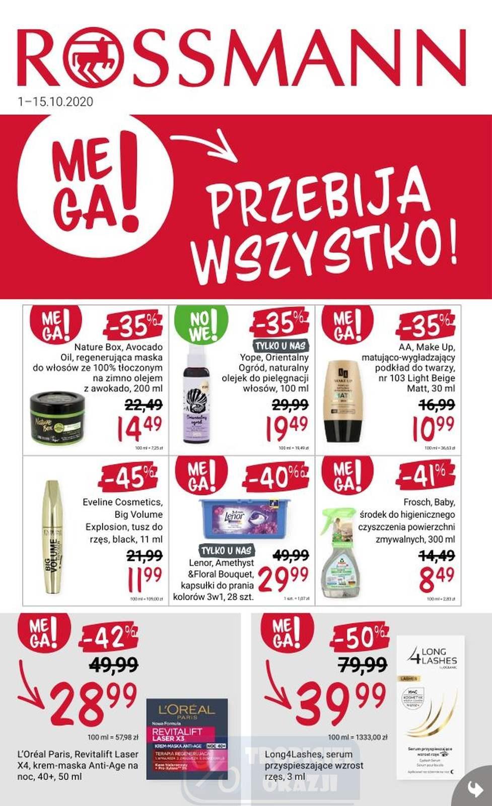 Gazetka promocyjna Rossmann do 15/10/2020 str.1