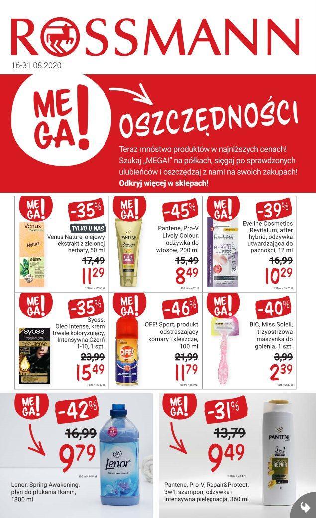 Gazetka promocyjna Rossmann do 31/08/2020 str.1