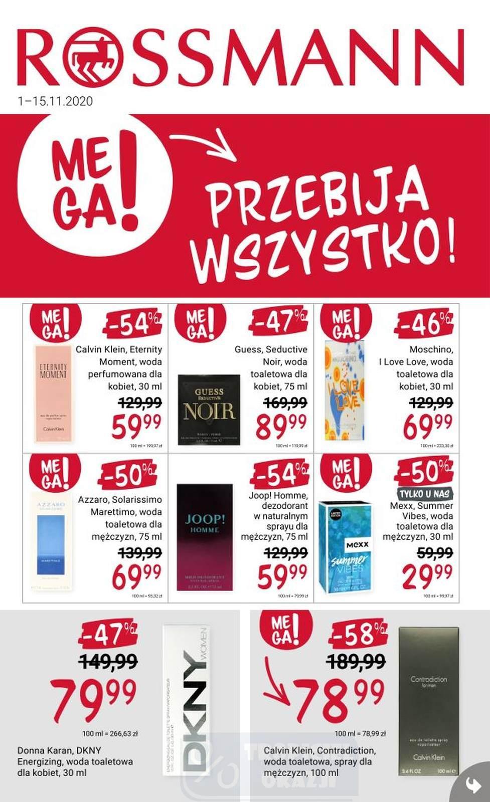 Gazetka promocyjna Rossmann do 15/11/2020 str.1