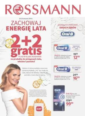 Rossmann gazetka - od 20/08/2018 do 29/08/2018