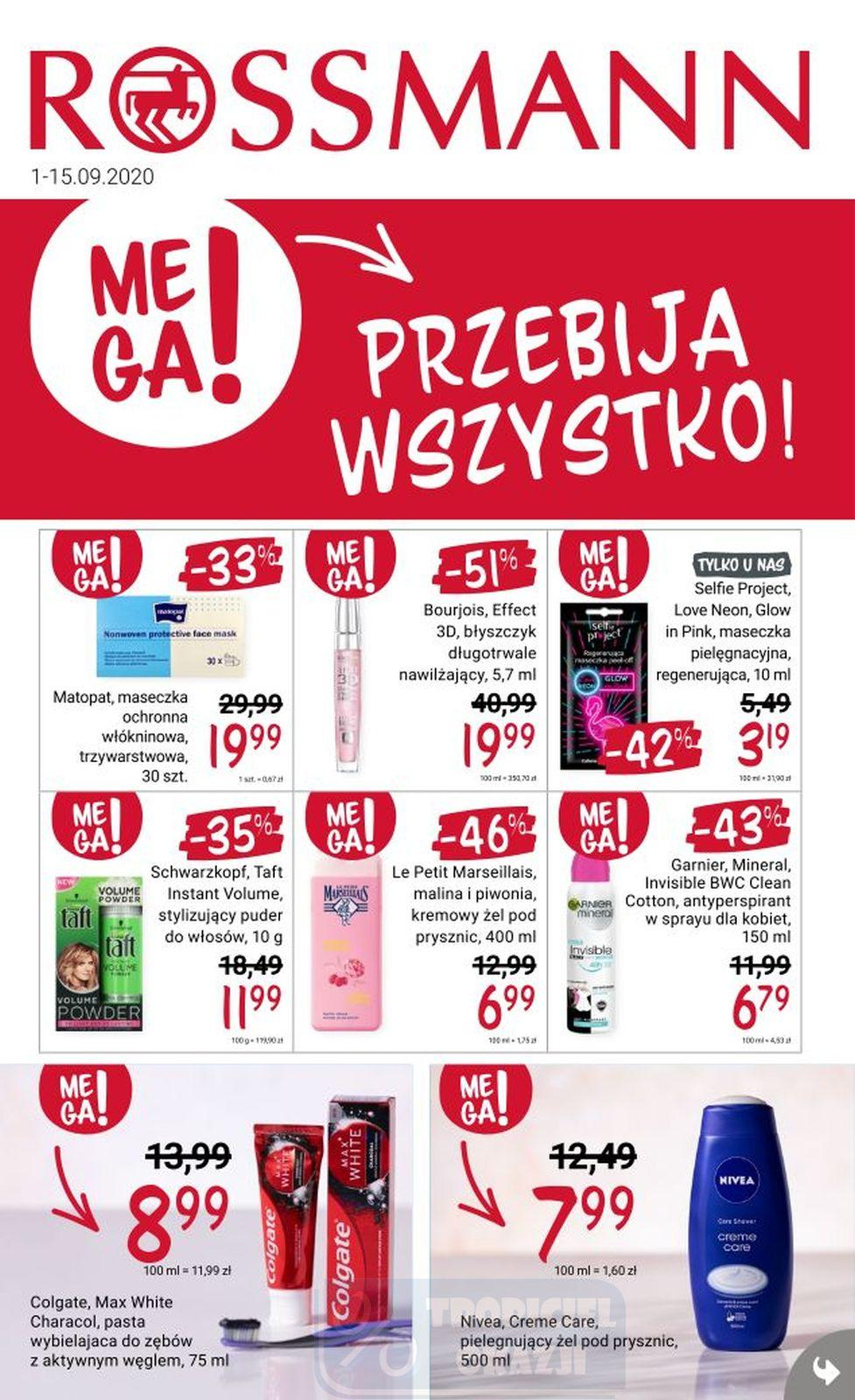 Gazetka promocyjna Rossmann do 15/09/2020 str.1