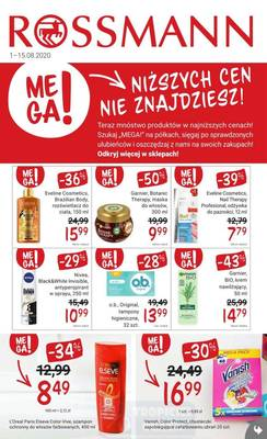 Rossmann gazetka  - od 01/08/2020 do 15/08/2020