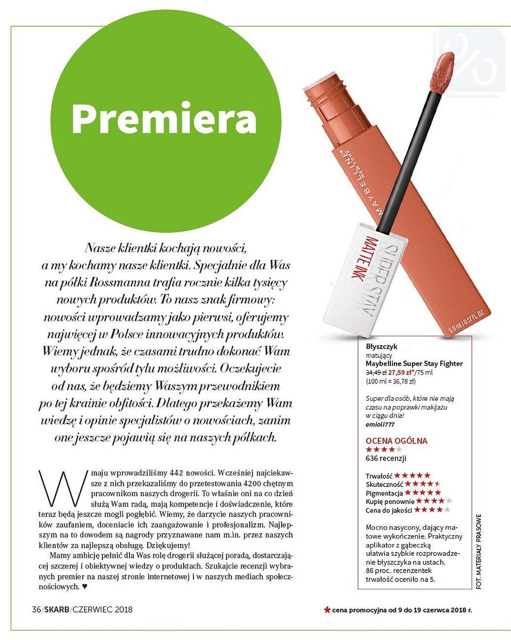 Gazetka promocyjna Rossmann do 30/06/2018 str.35
