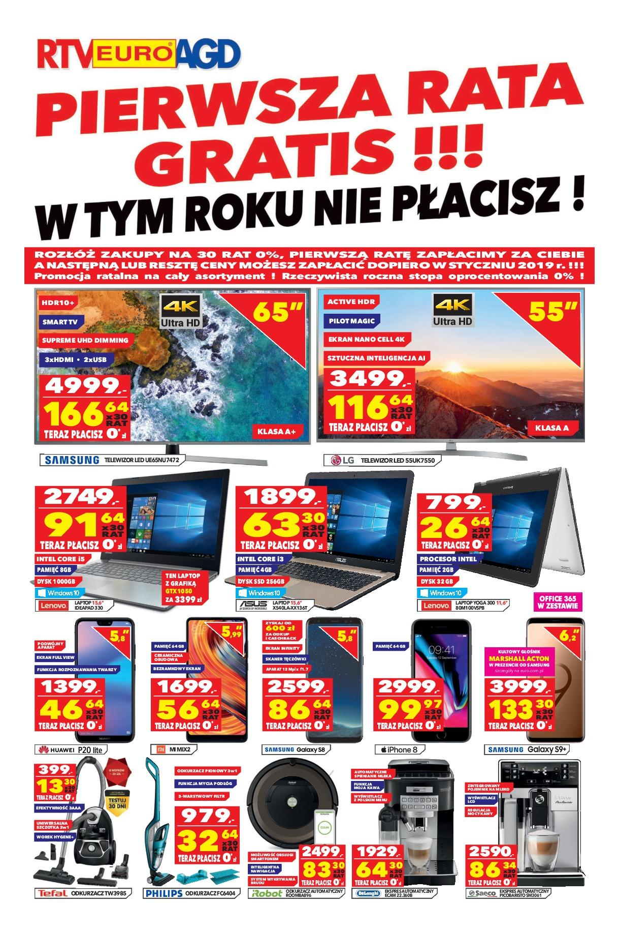 Gazetka promocyjna RTV Euro AGD do 01/10/2018 str.1