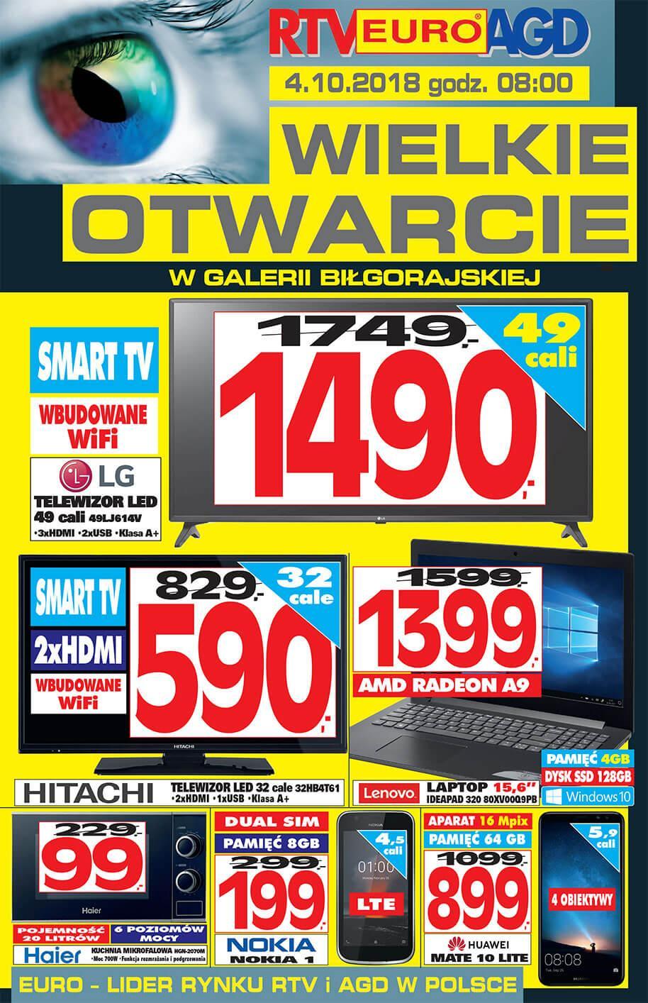 Gazetka promocyjna RTV Euro AGD do 10/10/2018 str.0