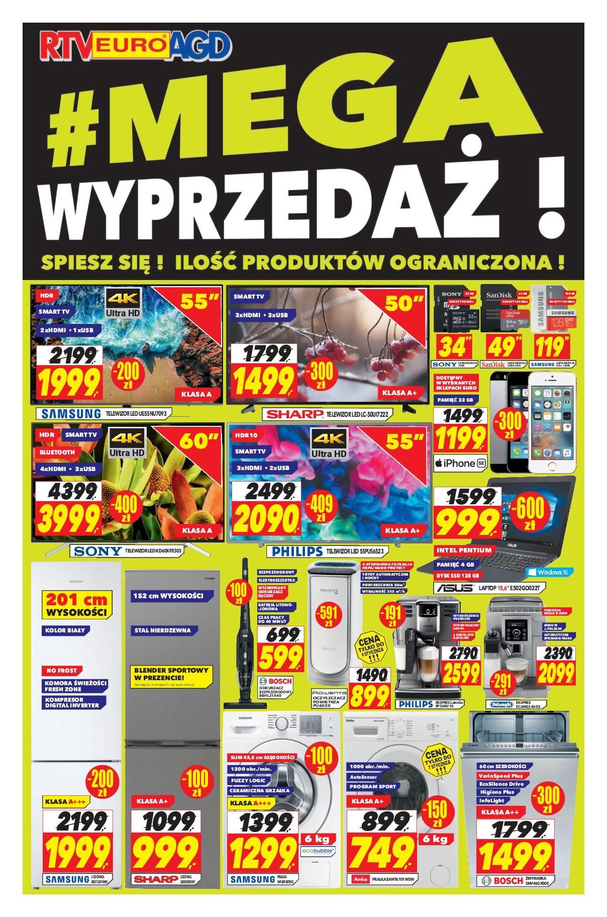 Gazetka promocyjna RTV Euro AGD do 15/01/2019 str.1