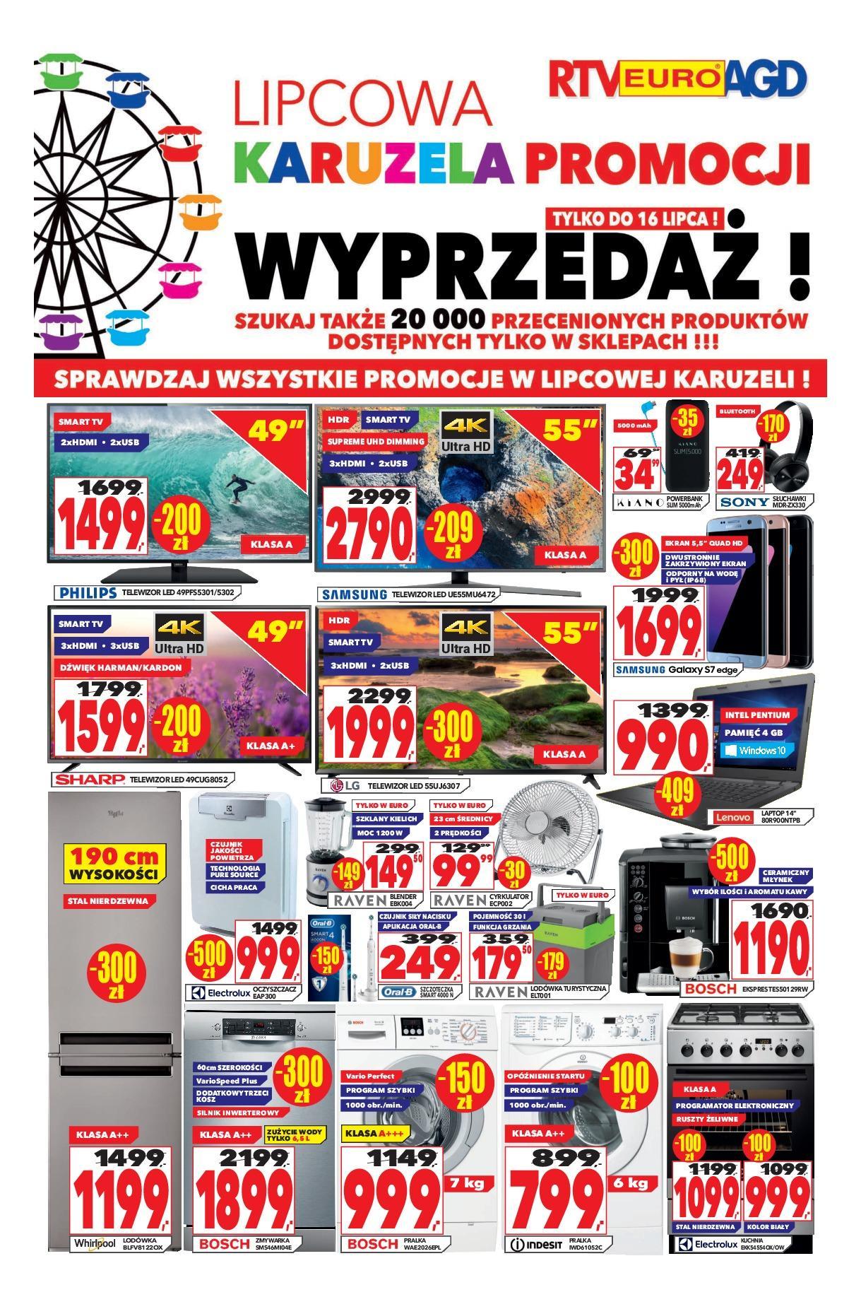 Gazetka promocyjna RTV Euro AGD do 16/08/2018 str.0