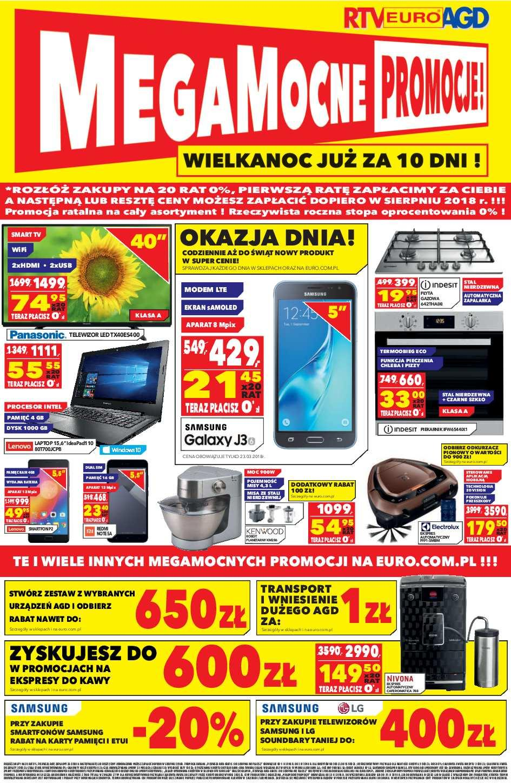 Gazetka promocyjna RTV Euro AGD do 02/04/2018 str.0