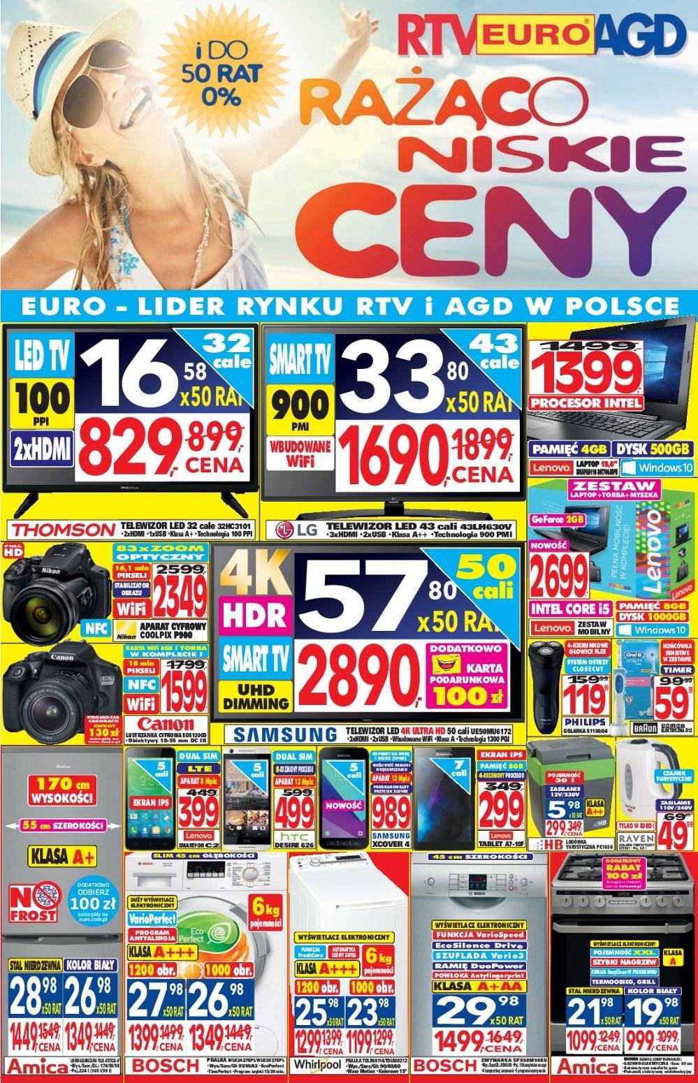 Gazetka promocyjna RTV Euro AGD do 01/08/2017 str.0