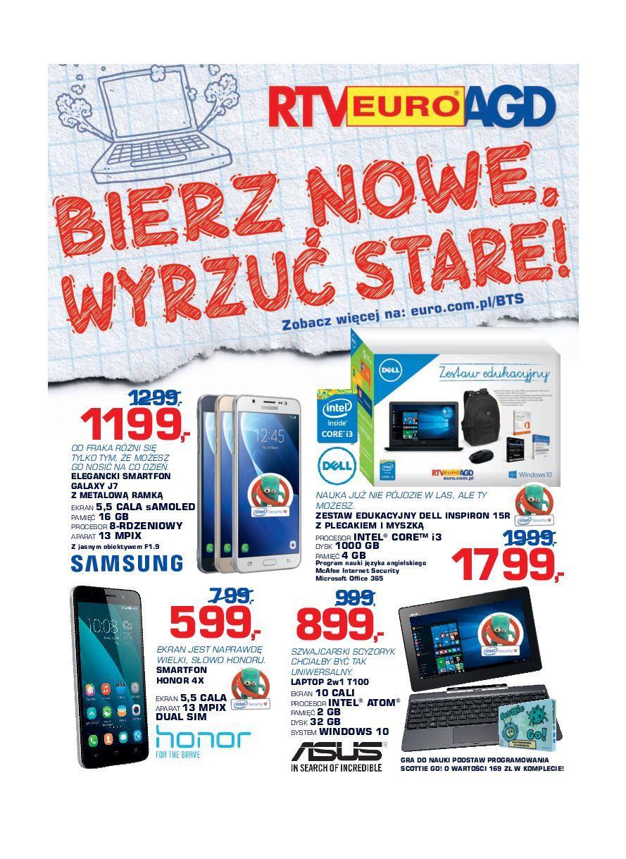 Gazetka promocyjna RTV Euro AGD do 03/10/2016 str.0