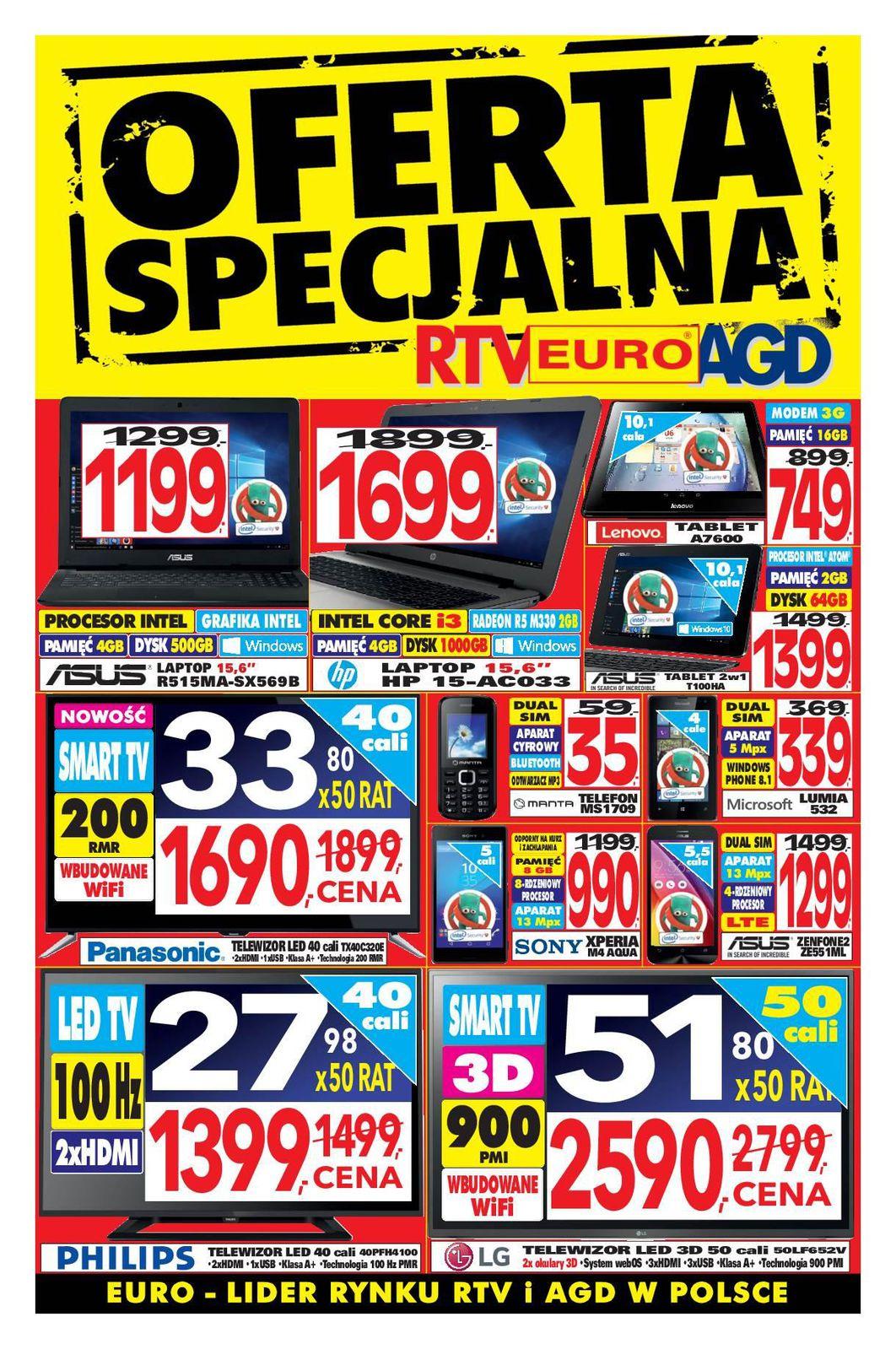 Gazetka promocyjna RTV Euro AGD do 24/11/2015 str.0