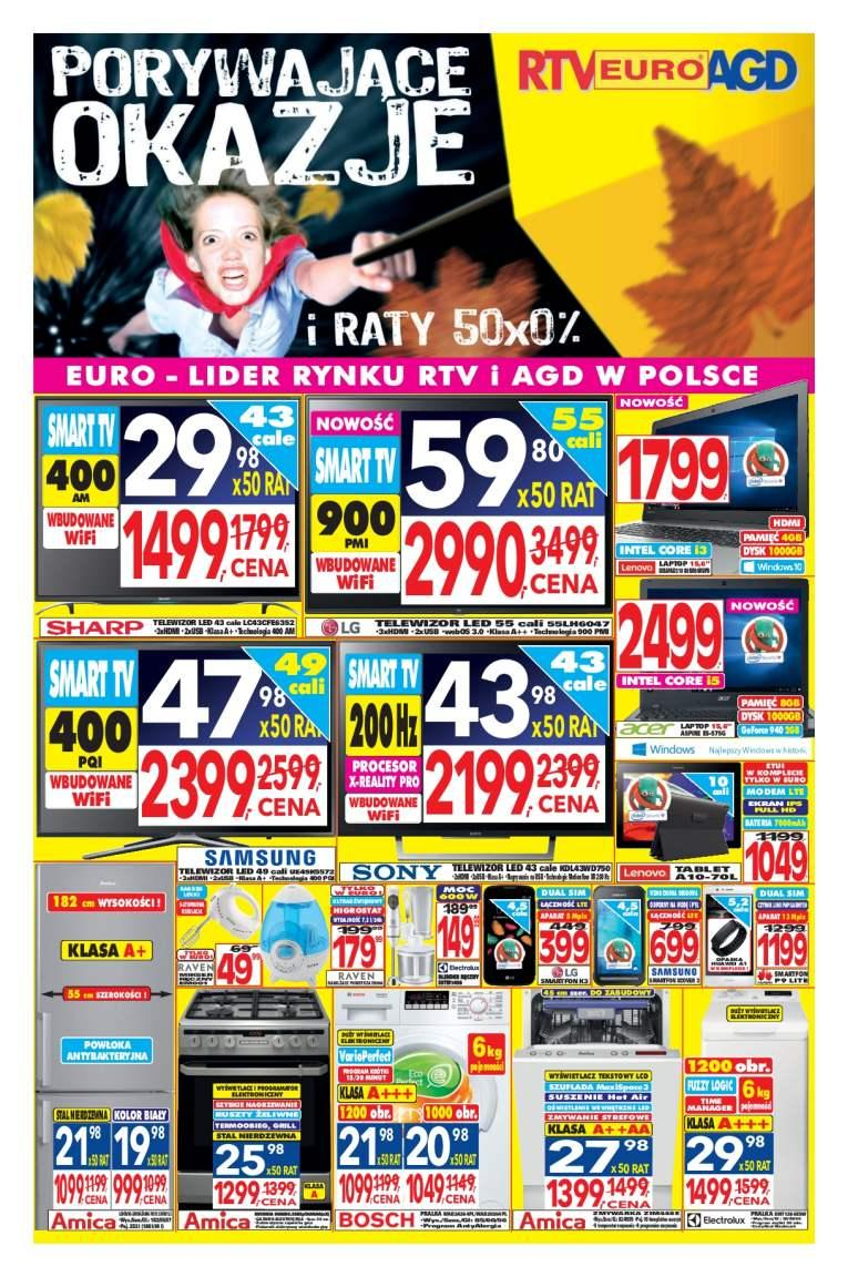 Gazetka promocyjna RTV Euro AGD do 22/11/2016 str.0