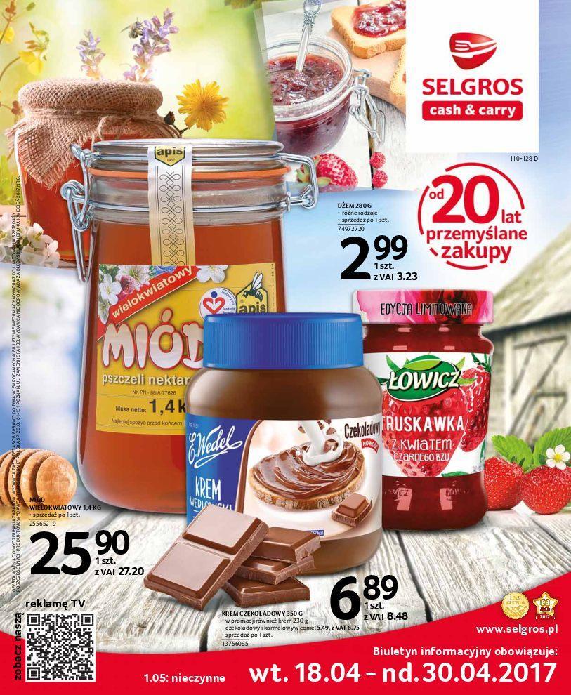 Gazetka promocyjna Selgros do 30/04/2017 str.0