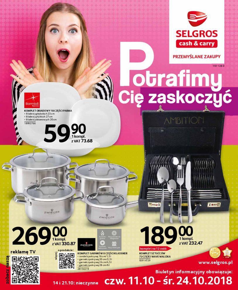 Gazetka promocyjna Selgros do 24/10/2018 str.0