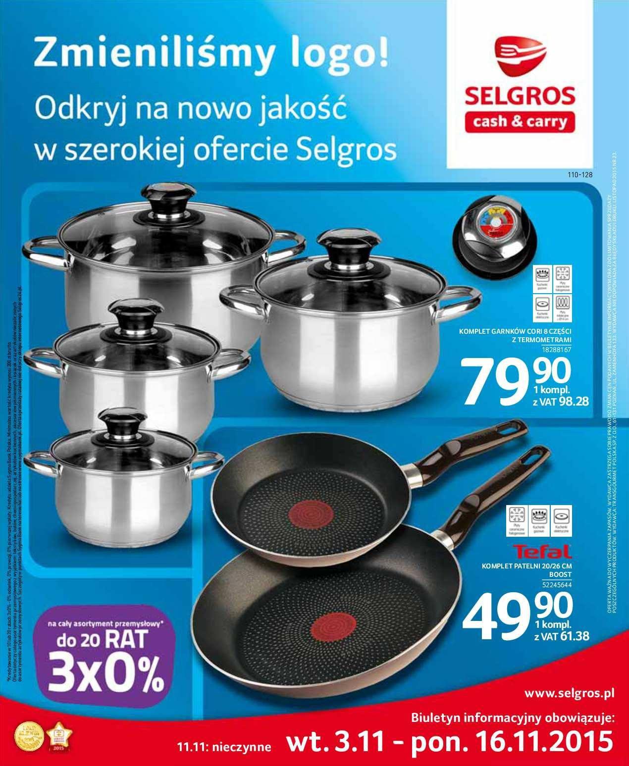 Gazetka promocyjna Selgros do 16/11/2015 str.0