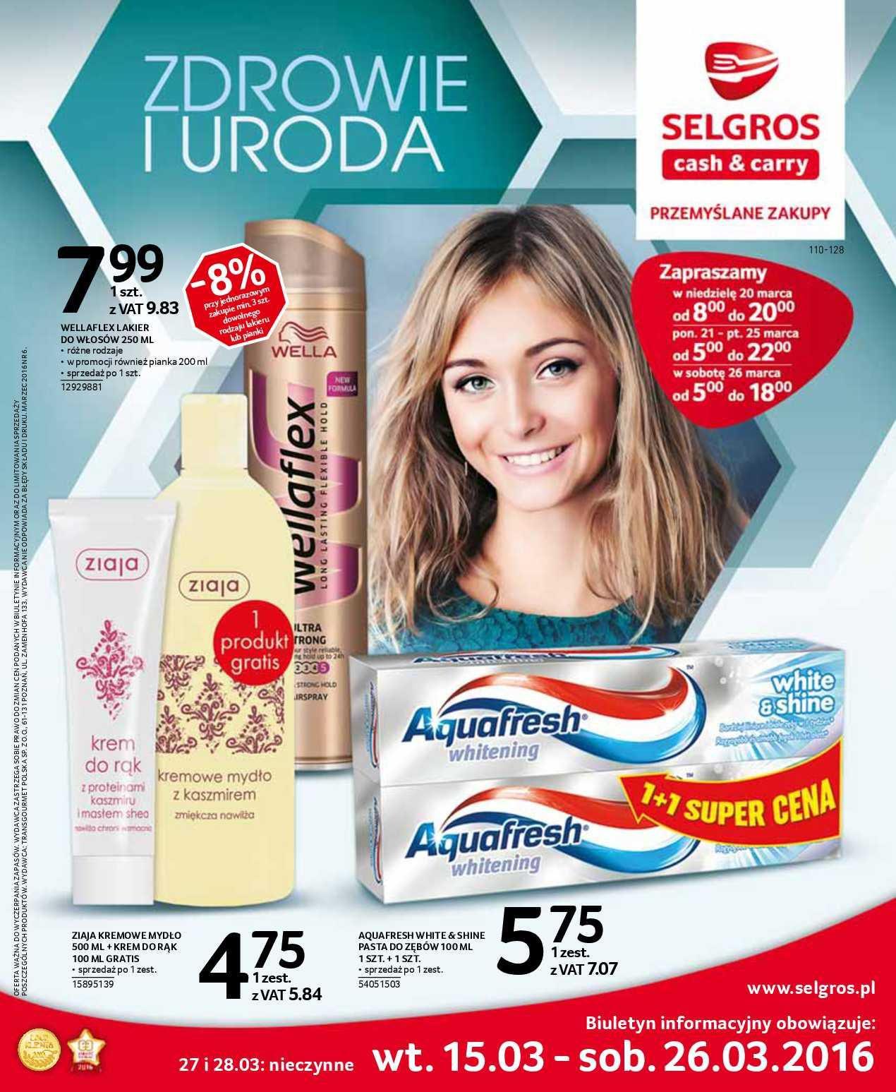 Gazetka promocyjna Selgros do 26/03/2016 str.0