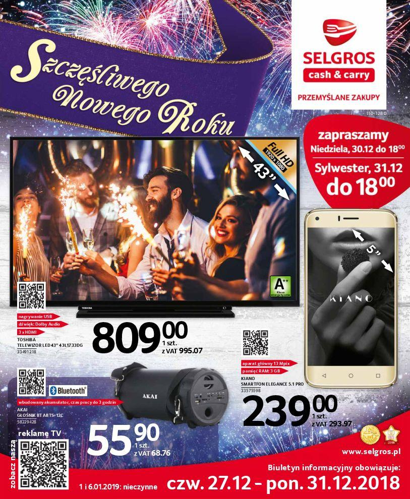 Gazetka promocyjna Selgros do 31/12/2018 str.0