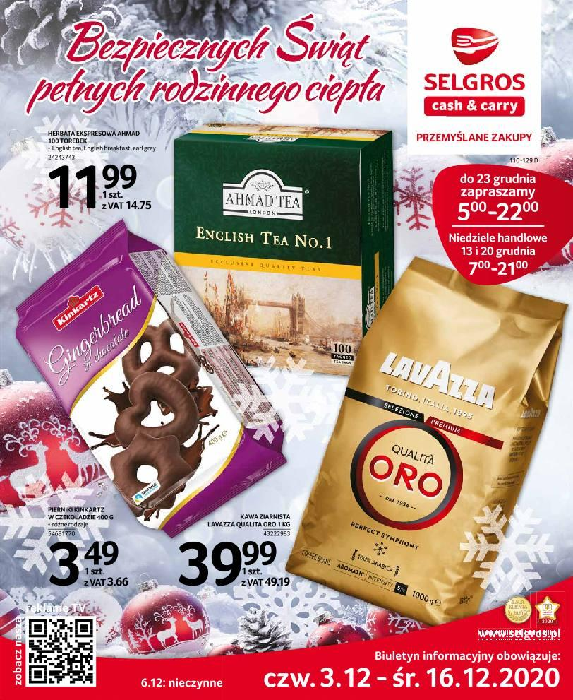 Gazetka promocyjna Selgros do 16/12/2020 str.1