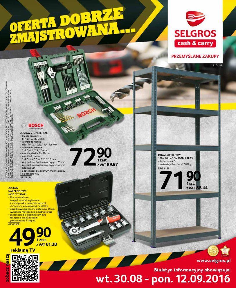 Gazetka promocyjna Selgros do 12/09/2016 str.0