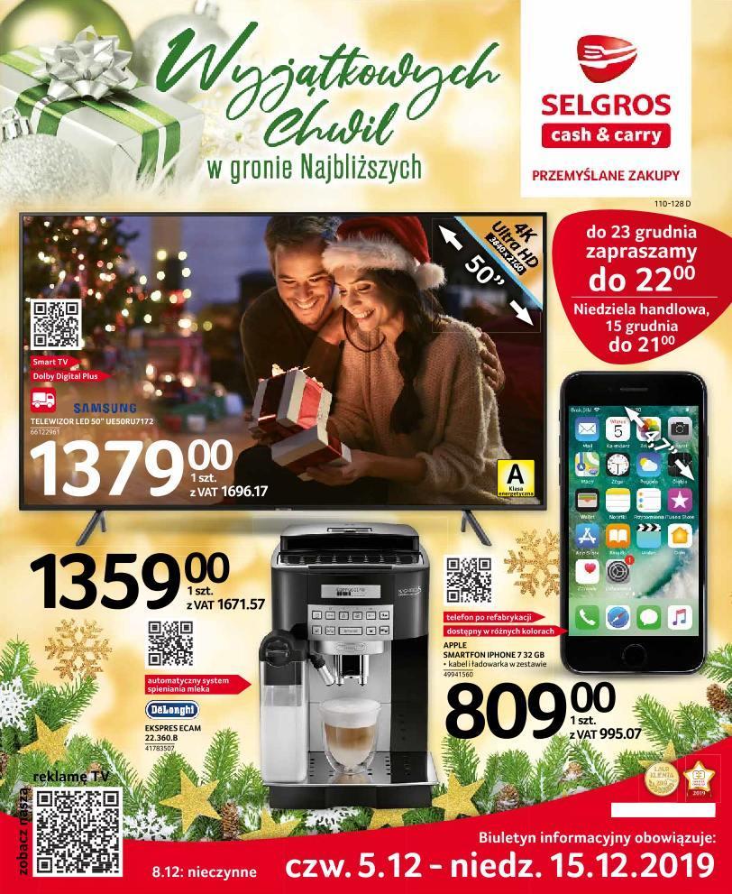 Gazetka promocyjna Selgros do 15/12/2019 str.0