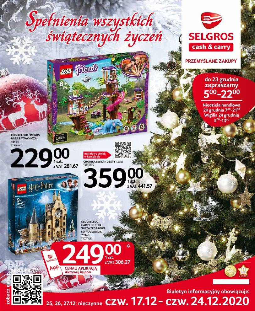 Gazetka promocyjna Selgros do 24/12/2020 str.1